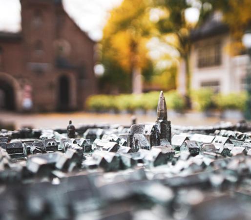 Miniatur Skulptur von Zons am Rhein