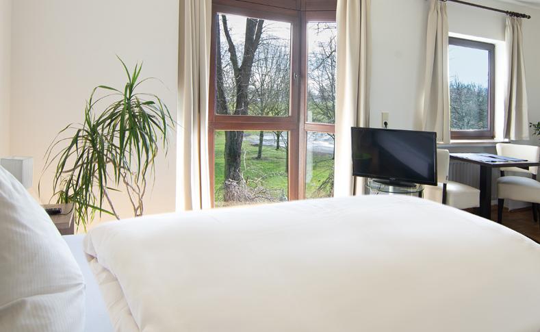 Zimmer mit Rheinblick im Hotel zum Bergischen Hof